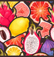 pattern with seamless exotic friut vector image