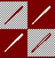 pen sign bordo and white vector image vector image