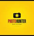 Photo Hunter Logo Template vector image vector image