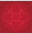 ruby red triangles crystal foil texture vector image