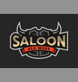 saloon tavern wild west logo emblem vector image vector image