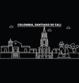 santiago de cali skyline colombia - santiago de vector image vector image