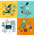 Science Concept Line Icons Set vector image vector image