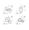 scroll down 360 degree and time management icons vector image vector image