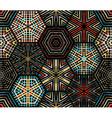 Seamless dark hexagons pattern vector image