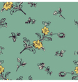 seamless pattern flower green vector image vector image