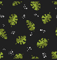 seamless stylized natural monstera plant pattern vector image