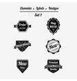 Set 1 elements labels and badges vector image vector image