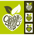 set of healthy organic food labels vector image vector image