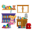 set of kid toys vector image vector image
