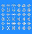 set of snowflakes unusual and original elements vector image vector image
