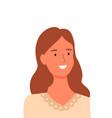 smiling woman portrait view online shop assistant vector image