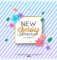 spring new collection background decorated vector image vector image