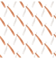 Straight razor Seamless watercolor pattern with vector image vector image