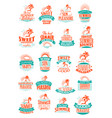 Summer holidays or vacation trip icons