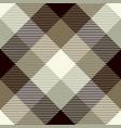 tartan seamless pattern background brown gray vector image vector image