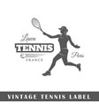 tennis label vector image vector image