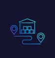 warehouse storage unit linear icon vector image vector image