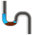 water pipe clogged vector image vector image