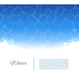 Water template vector image vector image