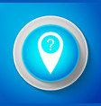 white map pointer with question symbol icon vector image vector image