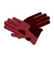 winter gloves equipment vector image vector image