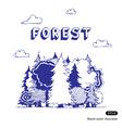 Woods vector image