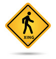 xsing road sign vector image
