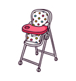 Baby feeding chair bright children isolated vector image
