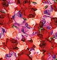 Elegant abstract seamless floral pattern with red vector image