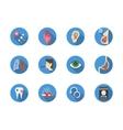 Tobacco addiction round color icons set vector image
