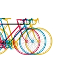 Abstract background 3 bikes in different colors on vector image vector image
