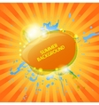 Abstract hot summer background vector image vector image