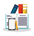 academic book design vector image