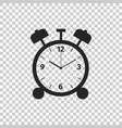 alarm clock icon on transparent background vector image vector image