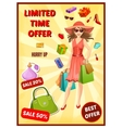 Best Offer In Shop Poster vector image vector image