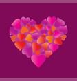 big beautiful heart made of hearts vector image vector image