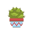 Big Blob Shape Cactus In A Pot vector image vector image