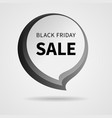 black friday sale tag isolated vector image vector image