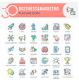 business and marketing icons vector image vector image