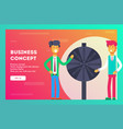 business concept business fortune vector image