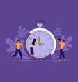 business people running in office vector image vector image