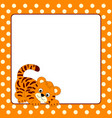 card template with tiger cub vector image