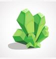 cartoon crystal gemstone vector image vector image