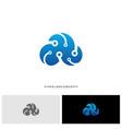 cloud tech logo design concept tech cloud logo vector image vector image