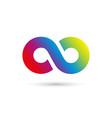 concept of eternity logo vector image