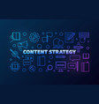 content strategy colorful concept vector image