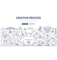 Creative Process Doodle Design vector image vector image