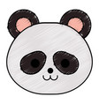 cute little bear panda character vector image