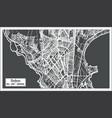 dakar senegal city map in retro style outline map vector image vector image